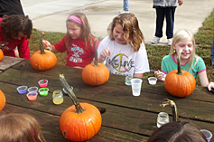 Pumpkin Painting at Pomona RV Park & Campground.