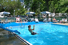 Swimming Pool at Pomona RV Park & Campground.
